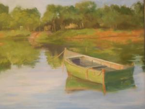 Boat on Muddy Cove, Onset MA