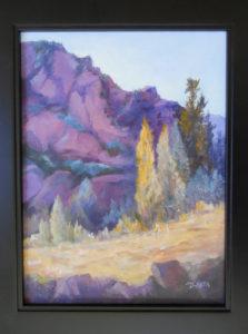 Arizona Cliff Oil on Canvas Canvas Size 9 x 12 Framed Size 12 x 15 $90
