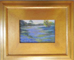 Bluebonnets in South Texas Oil on Canvas Canvas Size 6 x 9 Framed Size 15 x18 $125